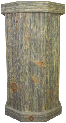Classic Gray Weathered Wood Taxidermy Pedestal