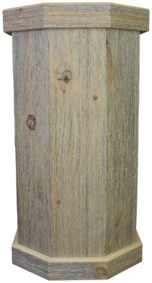 White Wash Weathered Wood Taxidermy Pedestal