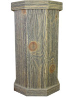 Weathered Wood Taxidermy Pedestals